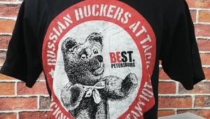 """T-Shirt black, St.Petersburg Harley Days 2018, """"Bear"""""""
