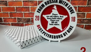 Decorative plates for the St. Petersburg Harley Days'